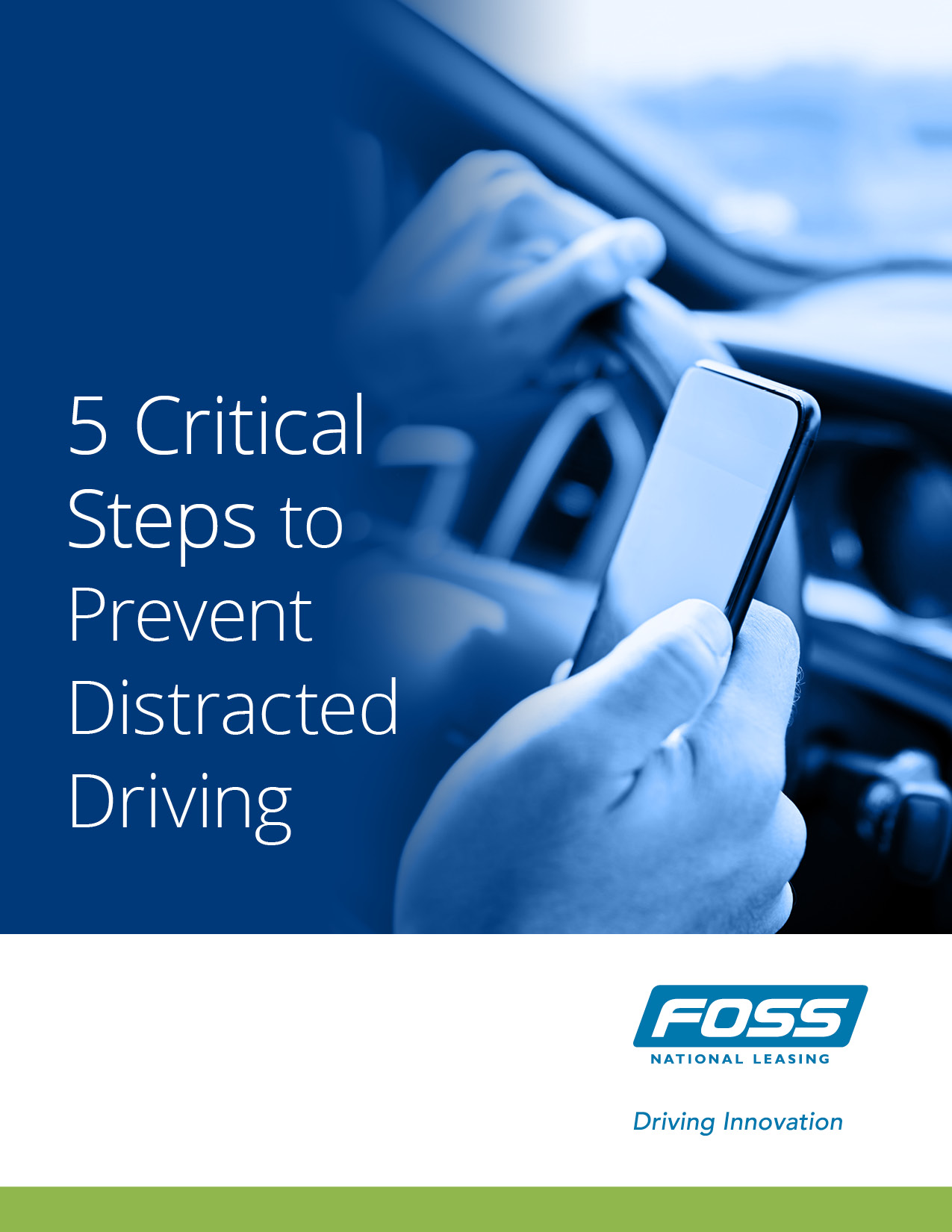 5 critical steps to prevent distracted driving